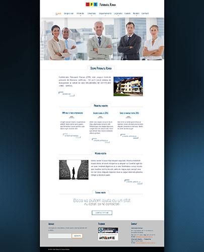Patronatul Roman - web, web design, web design interface, web interface, redesign, graphic design
