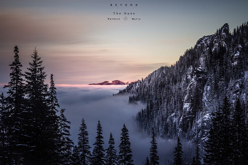 Beyond - nuance, nuances, winter, winter mountain, winter mountains, photography, winter photography, winder landscape, sunset, winter sunset, sunset photography, colors, hues, colours, cold, warm, warmth