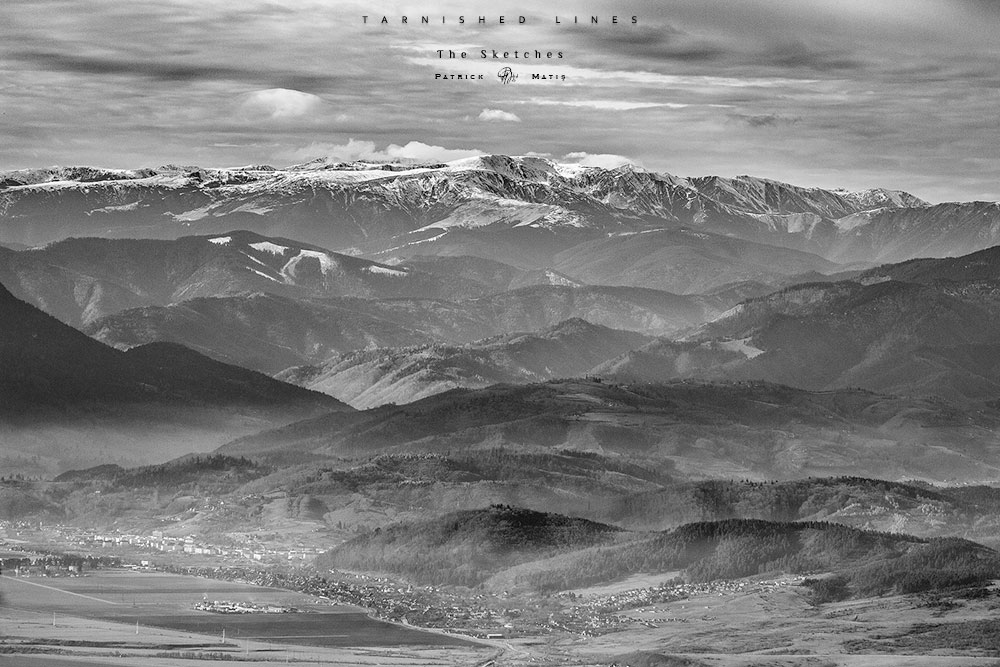 tarnished lines, lines, winter landscape, winter mountains, to draw, drawing, sketches, photography, landscape photography, black and white