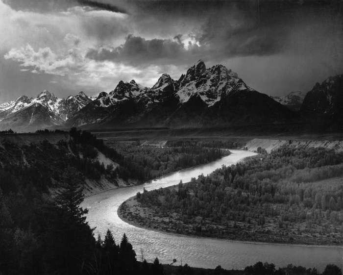 ansel adams, fotografie, fotografia de peisaj, tetons si snake river