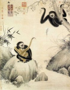 maimutele si ghindele, arcasul fara arc