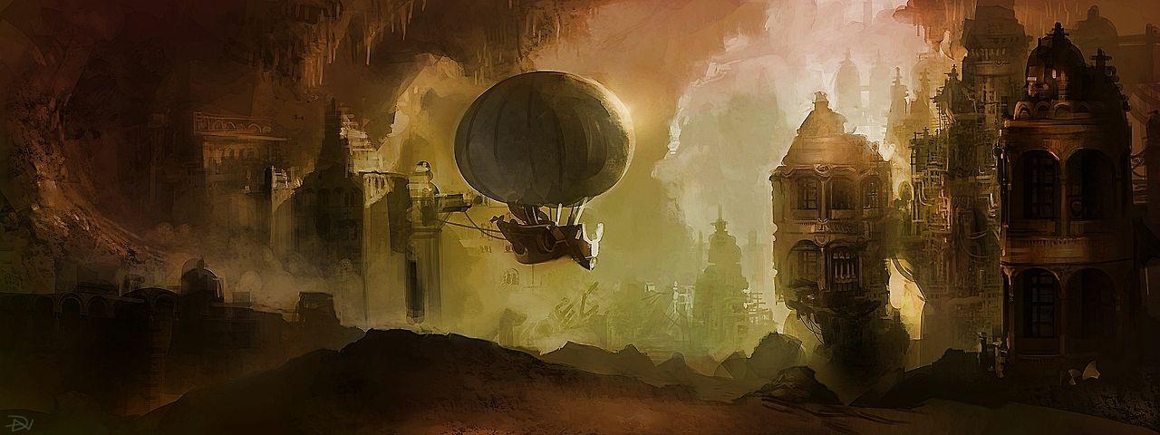 peisaj steampunk